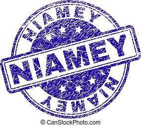 Grunge Textured NIAMEY Stamp Seal - NIAMEY stamp seal...