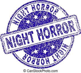 Grunge Textured NIGHT HORROR Stamp Seal