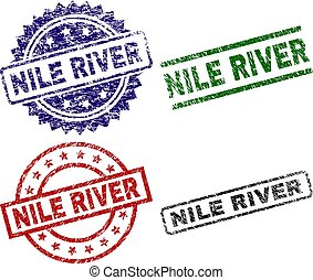 Grunge Textured NILE RIVER Seal Stamps - NILE RIVER seal...