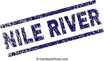 Grunge Textured NILE RIVER Stamp Seal - NILE RIVER seal...