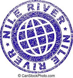 Grunge Textured NILE RIVER Stamp Seal - NILE RIVER stamp...