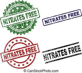 Grunge Textured NITRATES FREE Stamp Seals