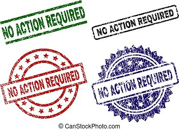 Grunge Textured NO ACTION REQUIRED Stamp Seals
