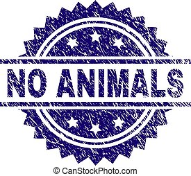Grunge Textured NO ANIMALS Stamp Seal