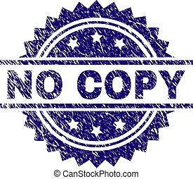Grunge Textured NO COPY Stamp Seal