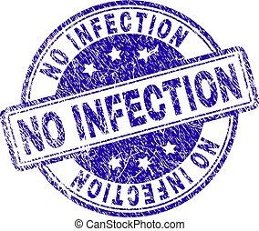 Grunge Textured NO INFECTION Stamp Seal