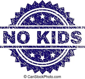 Grunge Textured NO KIDS Stamp Seal