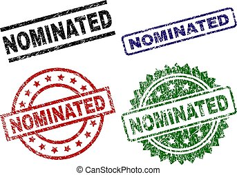 Grunge Textured NOMINATED Seal Stamps - NOMINATED seal ...