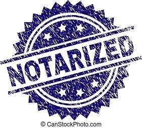 Grunge Textured NOTARIZED Stamp Seal