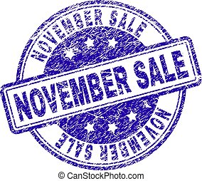 Grunge Textured NOVEMBER SALE Stamp Seal