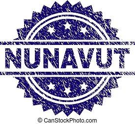 Grunge Textured NUNAVUT Stamp Seal