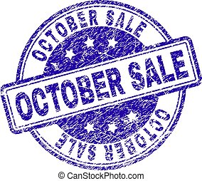 Grunge Textured OCTOBER SALE Stamp Seal