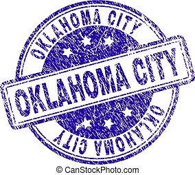 Grunge Textured OKLAHOMA CITY Stamp Seal