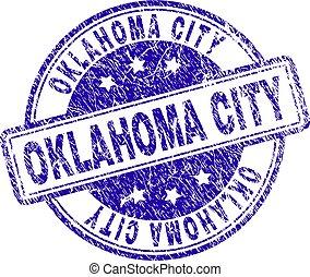 Grunge Textured OKLAHOMA CITY Stamp Seal