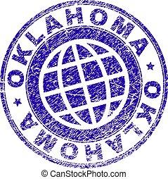 Grunge Textured OKLAHOMA Stamp Seal