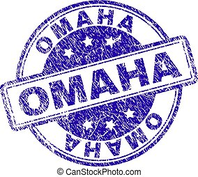 Grunge Textured OMAHA Stamp Seal - OMAHA stamp seal imprint...