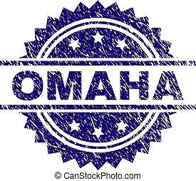 Grunge Textured OMAHA Stamp Seal - OMAHA stamp seal...