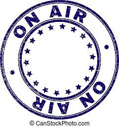 Grunge Textured ON AIR Round Stamp Seal