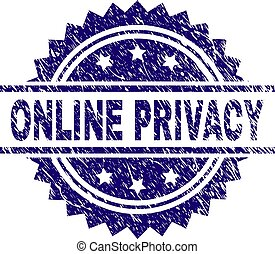 Grunge Textured ONLINE PRIVACY Stamp Seal