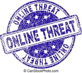 Grunge Textured ONLINE THREAT Stamp Seal