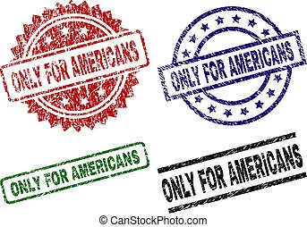 Grunge Textured ONLY FOR AMERICANS Stamp Seals