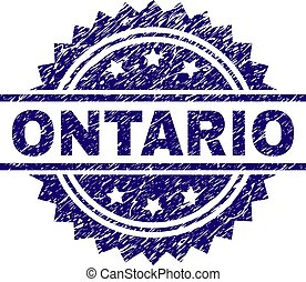 Grunge Textured ONTARIO Stamp Seal