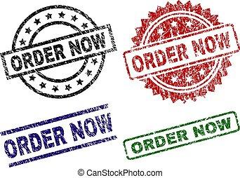 Grunge Textured ORDER NOW Stamp Seals