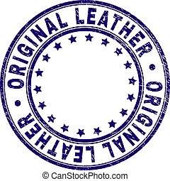 Grunge Textured ORIGINAL LEATHER Round Stamp Seal