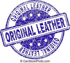 Grunge Textured ORIGINAL LEATHER Stamp Seal