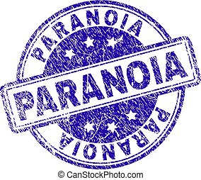 Grunge Textured PARANOIA Stamp Seal - PARANOIA stamp seal...
