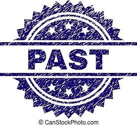 Grunge Textured PAST Stamp Seal