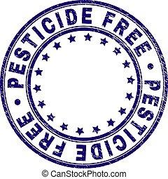 Grunge Textured PESTICIDE FREE Round Stamp Seal - PESTICIDE...