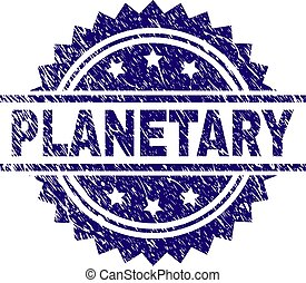 Grunge Textured PLANETARY Stamp Seal