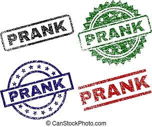 Grunge Textured PRANK Stamp Seals - PRANK seal imprints with...