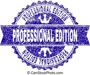 Grunge Textured PROFESSIONAL EDITION Stamp Seal with Ribbon...