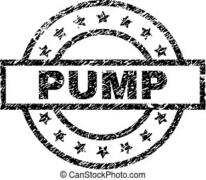 Grunge Textured PUMP Stamp Seal