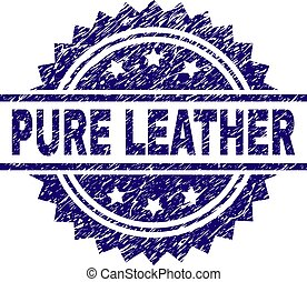 Grunge Textured PURE LEATHER Stamp Seal