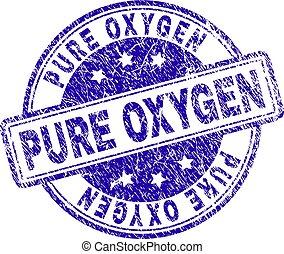 Grunge Textured PURE OXYGEN Stamp Seal
