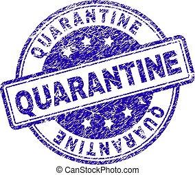 Grunge Textured QUARANTINE Stamp Seal