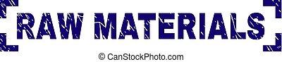 Grunge Textured RAW MATERIALS Stamp Seal Inside Corners - ...