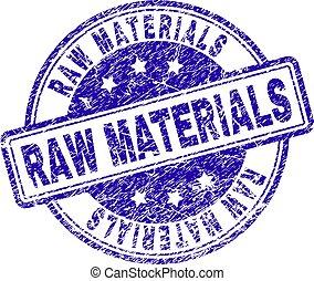 Grunge Textured RAW MATERIALS Stamp Seal - RAW MATERIALS ...