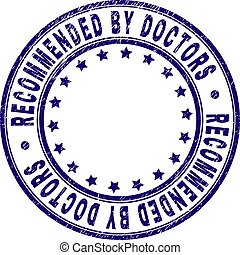 Grunge Textured RECOMMENDED BY DOCTORS Round Stamp Seal