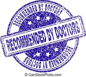 Grunge Textured RECOMMENDED BY DOCTORS Stamp Seal