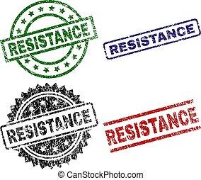 Grunge Textured RESISTANCE Seal Stamps