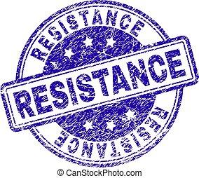 Grunge Textured RESISTANCE Stamp Seal