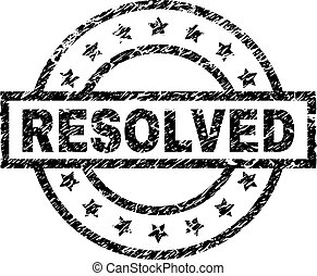 Grunge Textured RESOLVED Stamp Seal