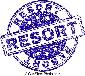 Grunge Textured RESORT Stamp Seal