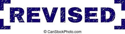 Grunge Textured REVISED Stamp Seal Between Corners - REVISED...