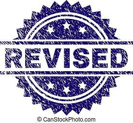 Grunge Textured REVISED Stamp Seal - REVISED stamp seal ...