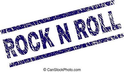 Grunge Textured ROCK N ROLL Stamp Seal